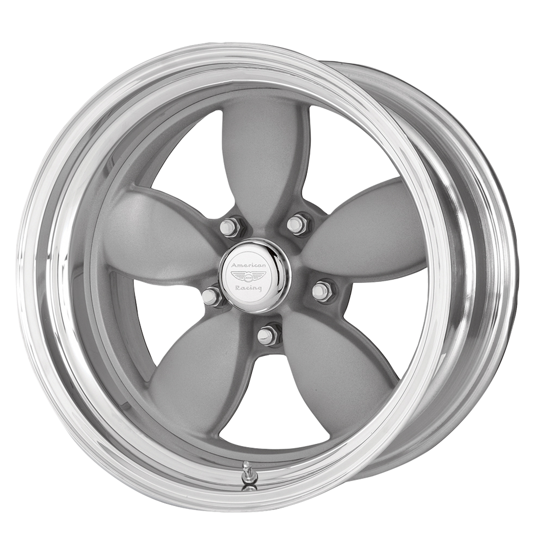 AMERICAN RACING CLASSIC 200S TWO-PIECE MAG GRAY CENTER POLISHED BARREL - rons-rims-inc
