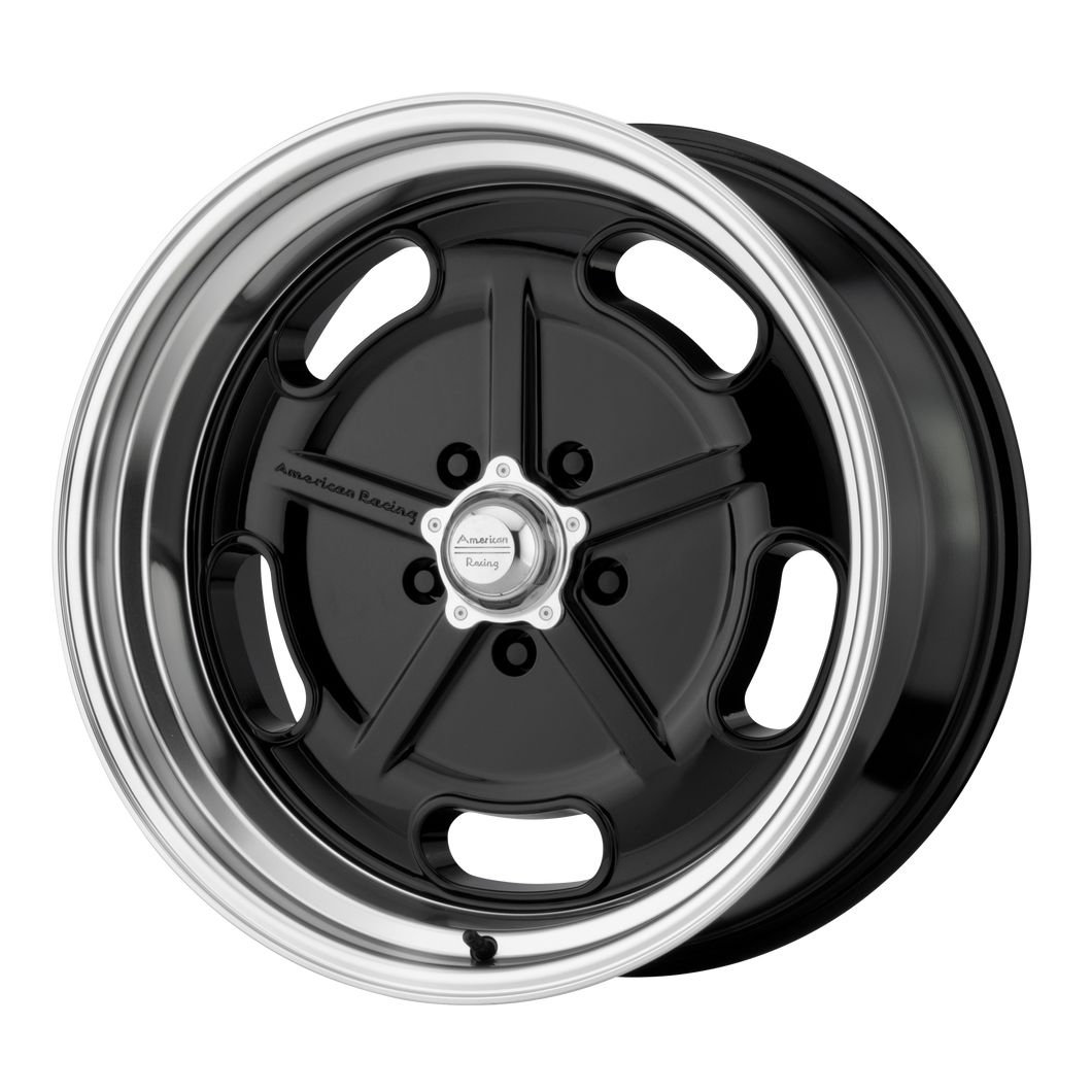 AMERICAN RACING SALT FLAT GLOSS BLACK W/ DIAMOND CUT LIP - rons-rims-inc