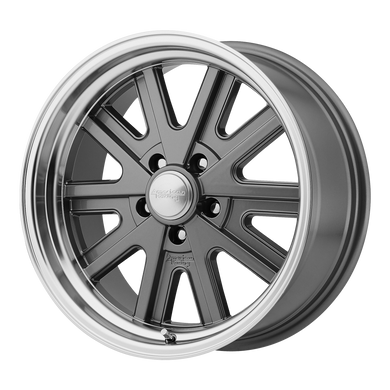 AMERICAN RACING 527 MONO CAST MAG GRAY MACHINED LIP - rons-rims-inc