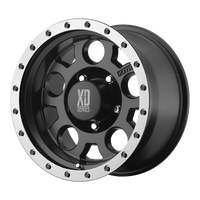 XD SERIES BY KMC WHEELS XD125 MATTE BLK W/ MACH. BEAD RING - rons-rims-inc