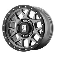 XD SERIES BY KMC WHEELS BULLY MATTE GRAY W/ BLACK RING - rons-rims-inc