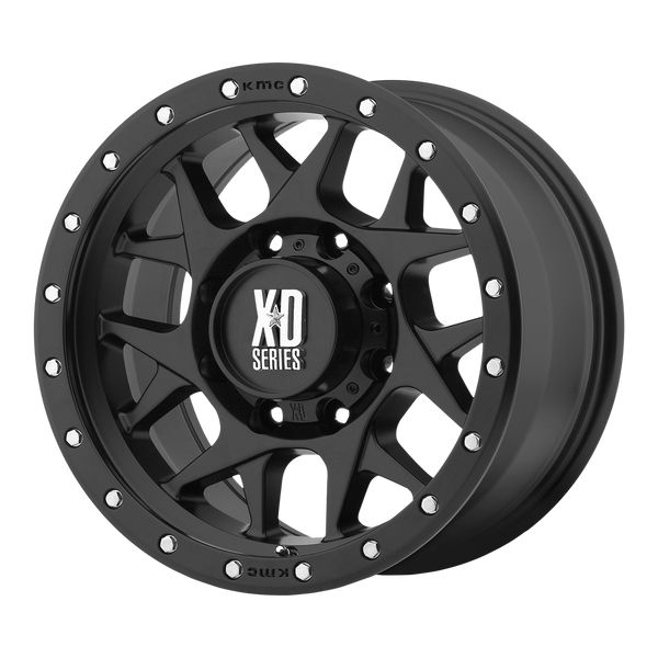 XD SERIES BY KMC WHEELS BULLY SATIN BLACK - rons-rims-inc