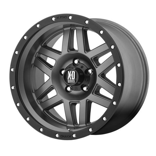 XD SERIES BY KMC WHEELS MACHETE MATTE GRAY W/ BLACK RING - rons-rims-inc