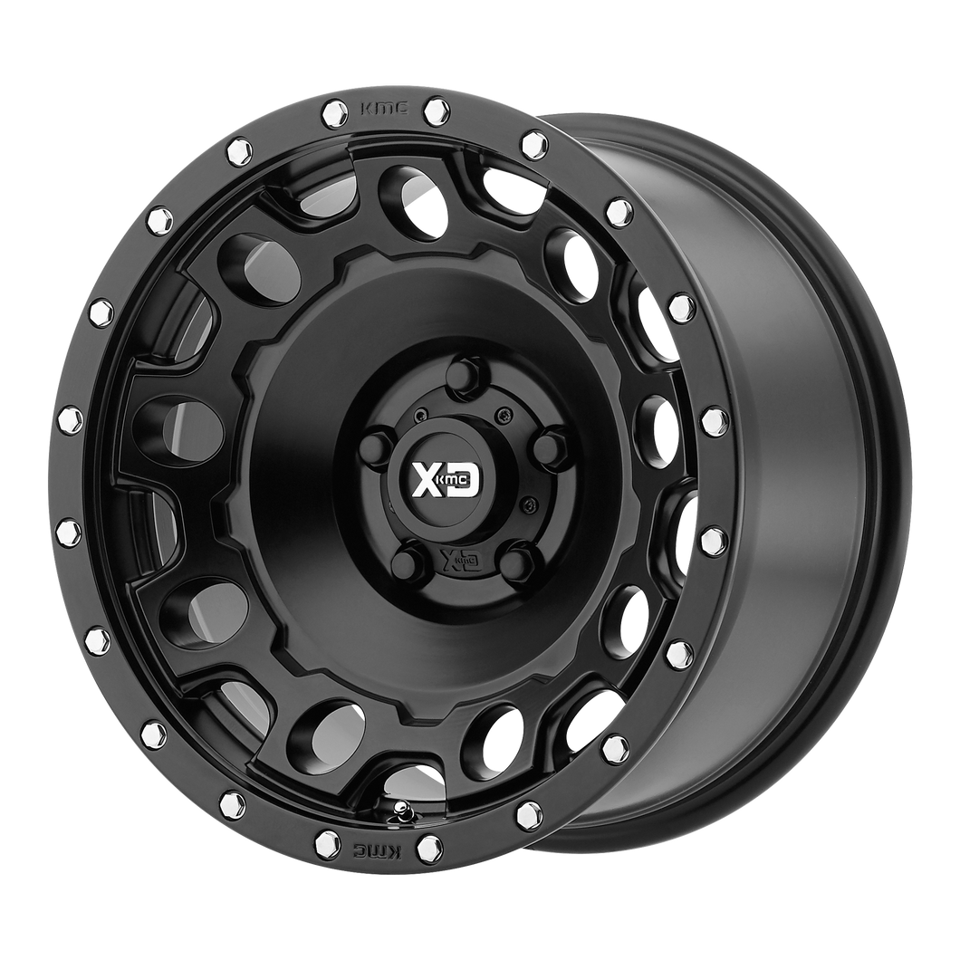 XD SERIES BY KMC WHEELS HOLESHOT SATIN BLACK - rons-rims-inc
