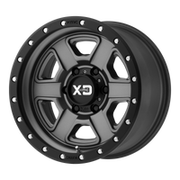 XD SERIES BY KMC WHEELS FUSION OFF-ROAD SATIN GRAY W/ S-BLK LIP - rons-rims-inc