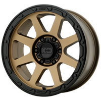XD SERIES BY KMC WHEELS ADDICT 2 MATTE BRONZE W/ MATTE BLACK LIP