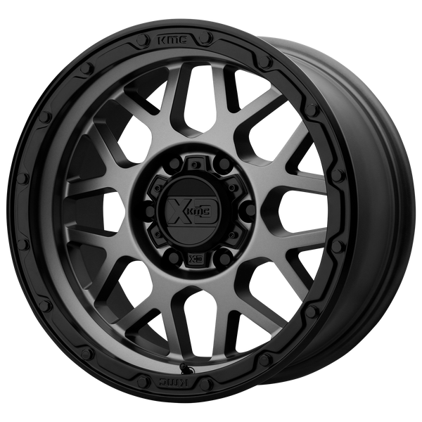 XD SERIES BY KMC WHEELS GRENADE OR MATTE GRAY W/ MATTE BLACK LIP