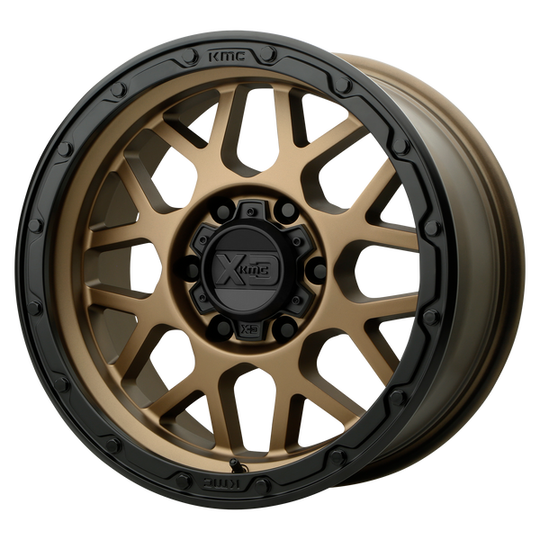 XD SERIES BY KMC WHEELS GRENADE OR MATTE BRONZE W/ MATTE BLACK LIP - rons-rims-inc