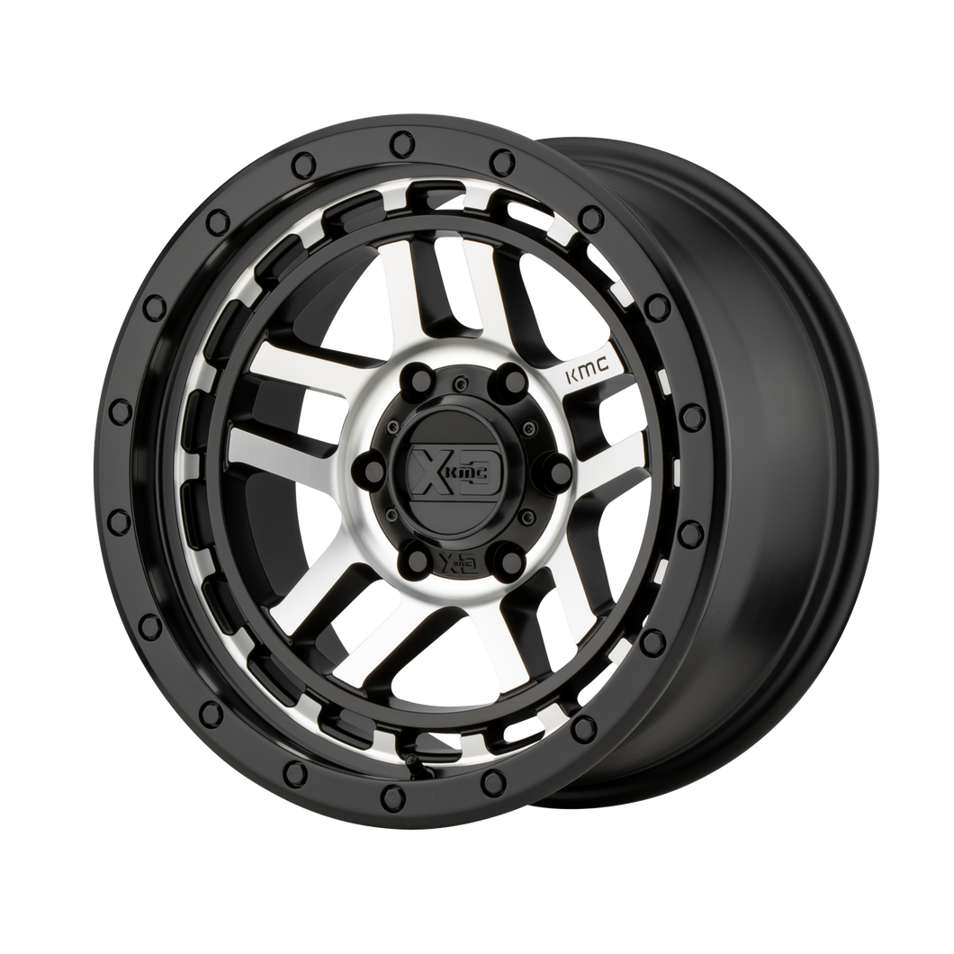 XD SERIES BY KMC WHEELS RECON SATIN BLACK MACHINED - rons-rims-inc