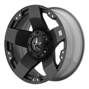 XD SERIES BY KMC WHEELS ROCKSTAR MATTE BLACK - rons-rims-inc