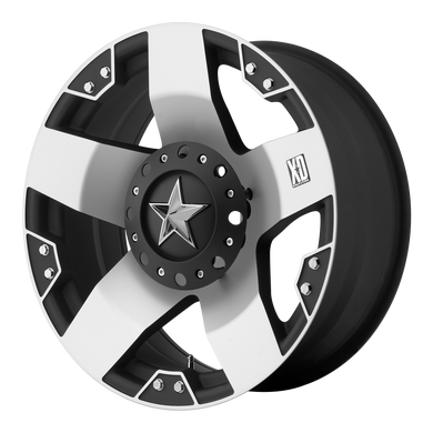 XD SERIES BY KMC WHEELS ROCKSTAR MACHINED FACE W/ BLK WINDOWS - rons-rims-inc