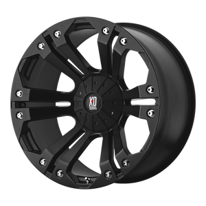 XD SERIES BY KMC WHEELS MONSTER MATTE BLACK - rons-rims-inc