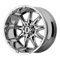 XD SERIES BY KMC WHEELS BADLANDS CHROME - rons-rims-inc