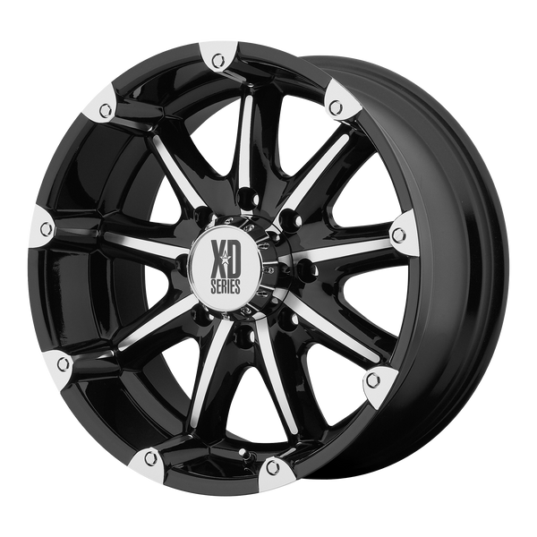 XD SERIES BY KMC WHEELS BADLANDS GLOSS BLACK MACHINED - rons-rims-inc