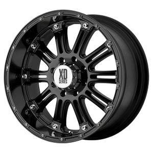 XD SERIES BY KMC WHEELS HOSS GLOSS BLACK - rons-rims-inc