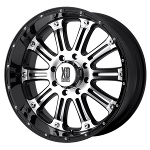 XD SERIES BY KMC WHEELS HOSS GLOSS BLACK MACHINED - rons-rims-inc