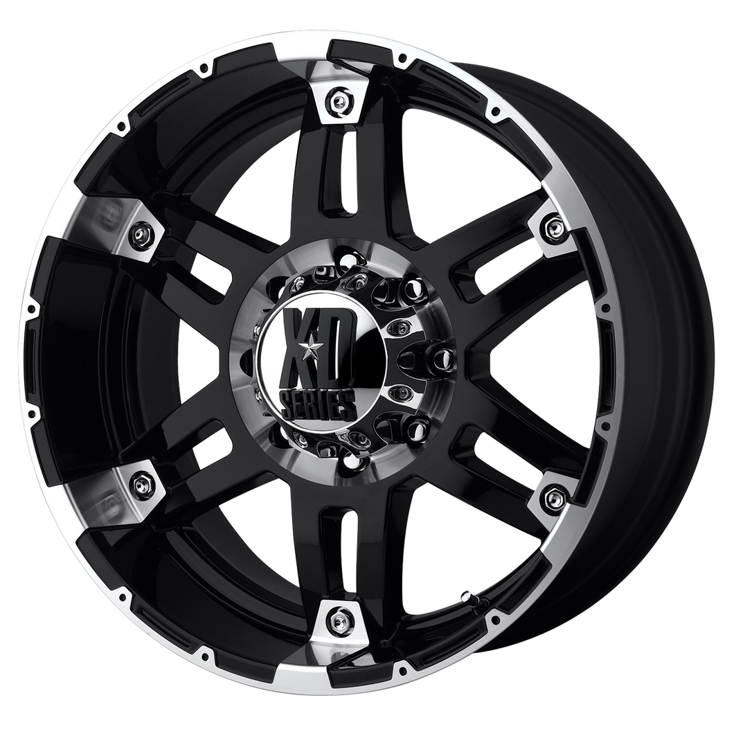 XD SERIES BY KMC WHEELS SPY GLOSS BLACK MACHINED - rons-rims-inc
