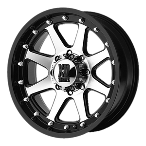 XD SERIES BY KMC WHEELS ADDICT MATTE BLACK MACHINED - rons-rims-inc