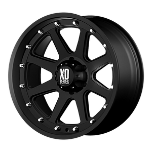 XD SERIES BY KMC WHEELS ADDICT MATTE BLACK - rons-rims-inc