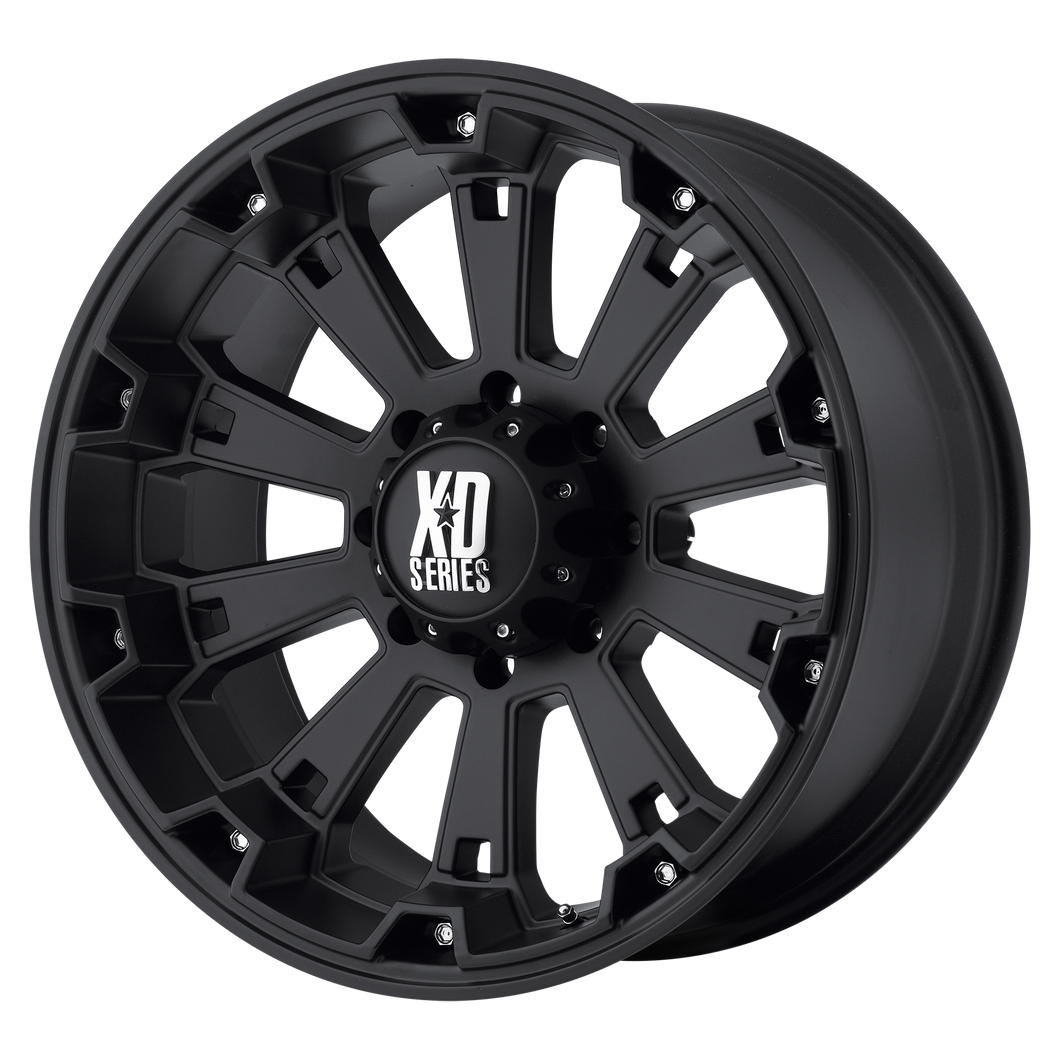 XD SERIES BY KMC WHEELS MISFIT MATTE BLACK - rons-rims-inc