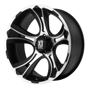 XD SERIES BY KMC WHEELS CRANK MATTE BLACK MACHINED - rons-rims-inc