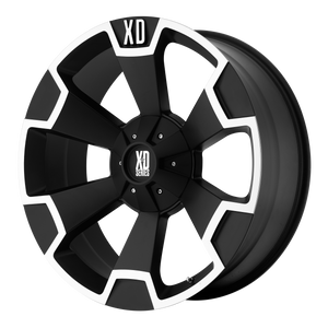 XD SERIES BY KMC WHEELS THUMP MATTE BLACK MACHINED - rons-rims-inc