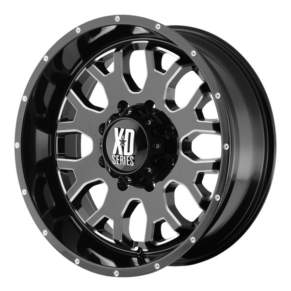 XD SERIES BY KMC WHEELS MENACE GLOSS BLACK W/ MILLED ACCENTS - rons-rims-inc