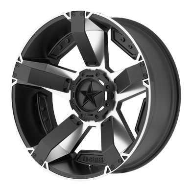XD SERIES BY KMC WHEELS RS2 MATTE BLACK MACHINED W/ ACCENTS - rons-rims-inc