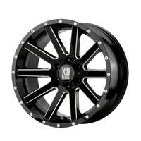 XD SERIES BY KMC WHEELS HEIST GLOSS BLACK MILLED