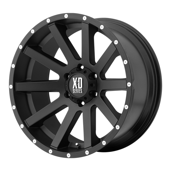 XD SERIES BY KMC WHEELS HEIST SATIN BLACK - rons-rims-inc