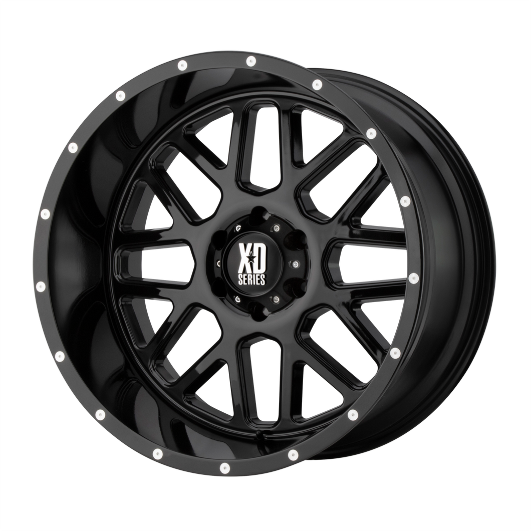 XD SERIES BY KMC WHEELS GRENADE GLOSS BLACK - rons-rims-inc
