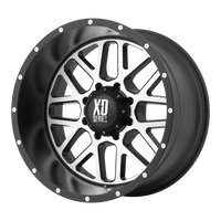 XD SERIES BY KMC WHEELS GRENADE SATIN BLACK W/ MACHINED FACE - rons-rims-inc
