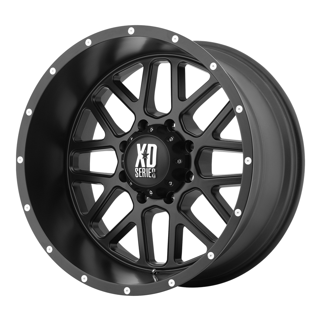 XD SERIES BY KMC WHEELS GRENADE SATIN BLACK - rons-rims-inc