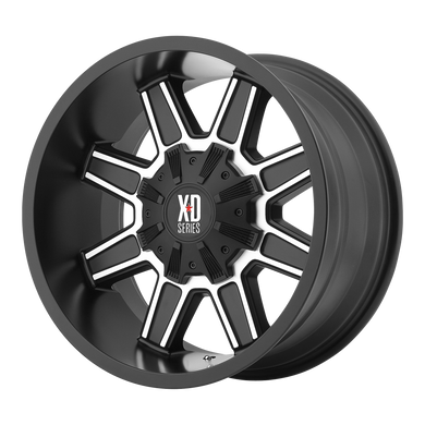 XD SERIES BY KMC WHEELS TRAP SATIN BLACK W/ MACHINED FACE - rons-rims-inc