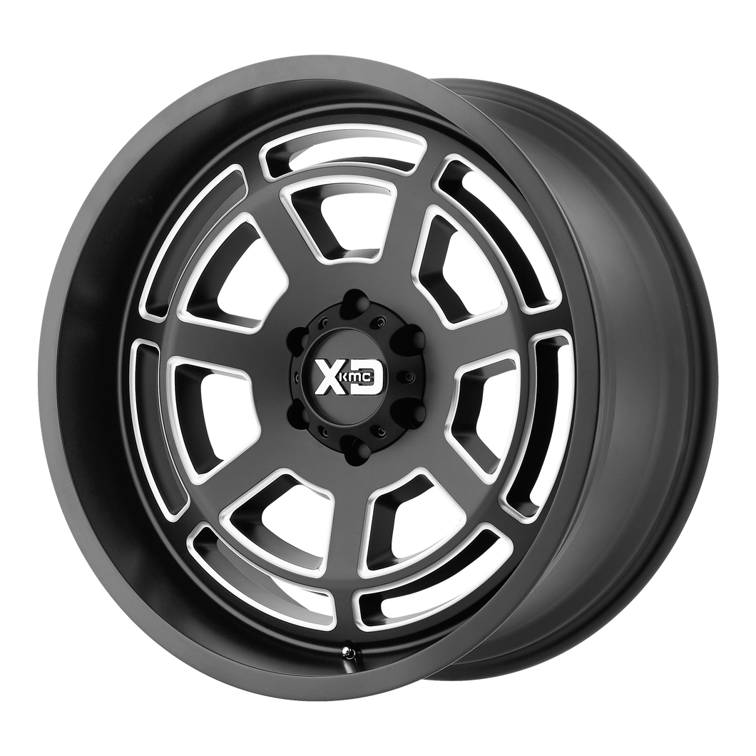 XD SERIES BY KMC WHEELS BONES SATIN BLACK MILLED - rons-rims-inc