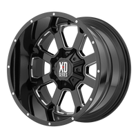 XD SERIES BY KMC WHEELS BUCK 25 GLOSS BLACK MILLED - rons-rims-inc