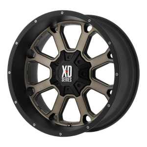 XD SERIES BY KMC WHEELS BUCK 25 MATTE BLACK W/ DARK TINT - rons-rims-inc