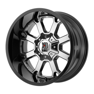 XD SERIES BY KMC WHEELS BUCK 25 PVD CENTER W/ GLOSS BLACK LIP - rons-rims-inc