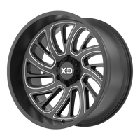 XD SERIES BY KMC WHEELS SURGE SATIN BLACK MILLED - rons-rims-inc