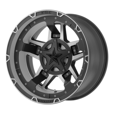 XD SERIES BY KMC WHEELS RS3 MATTE BLACK MACHINED - rons-rims-inc