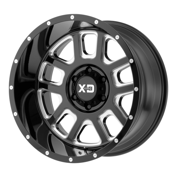 XD SERIES BY KMC WHEELS DELTA GLOSS BLACK MILLED - rons-rims-inc