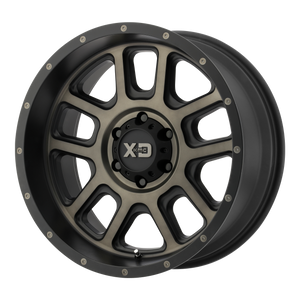 XD SERIES BY KMC WHEELS DELTA MATTE BLACK W/ DARK TINT CLEAR - rons-rims-inc