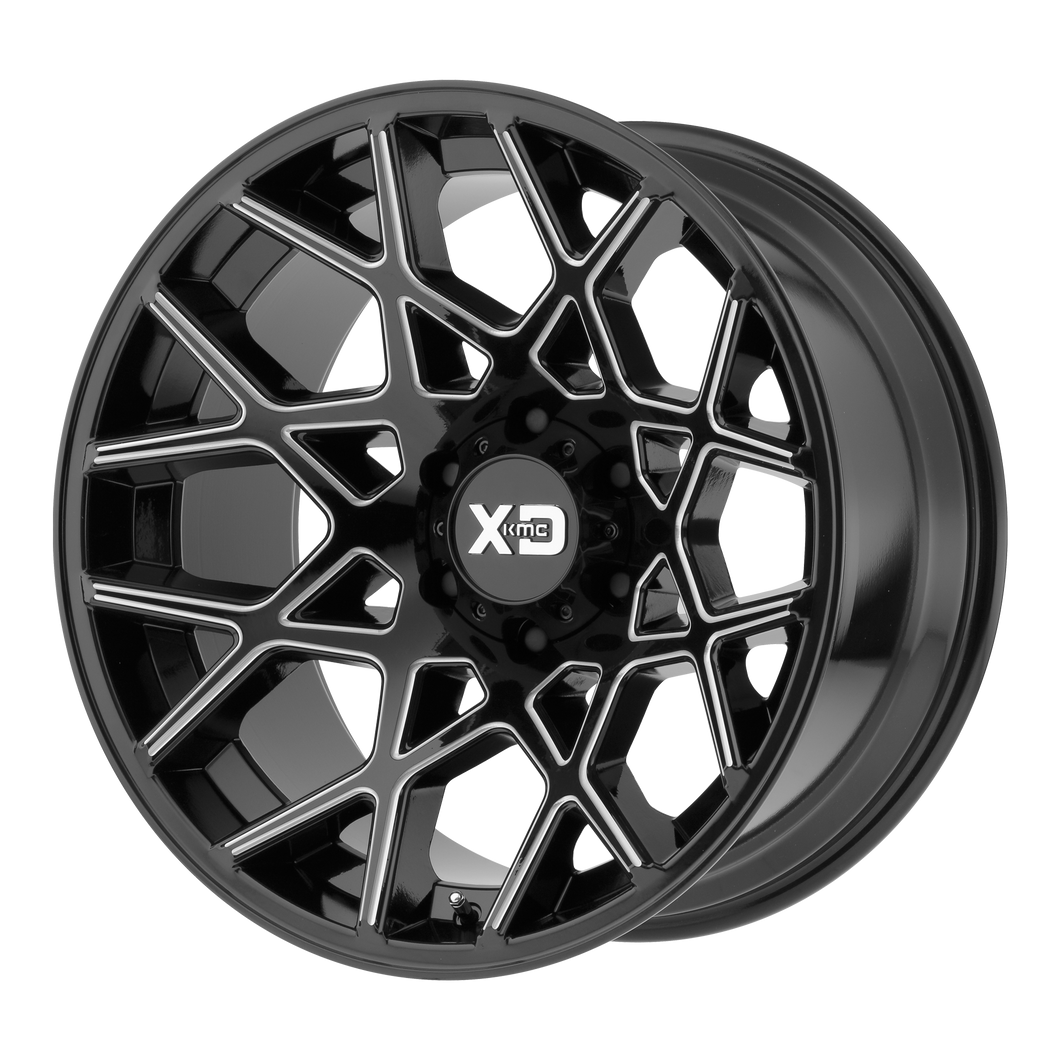 XD SERIES BY KMC WHEELS CHOPSTIX GLOSS BLACK MILLED - rons-rims-inc