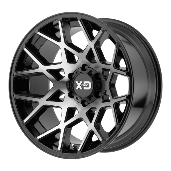 XD SERIES BY KMC WHEELS CHOPSTIX GLOSS BLACK MACHINED - rons-rims-inc