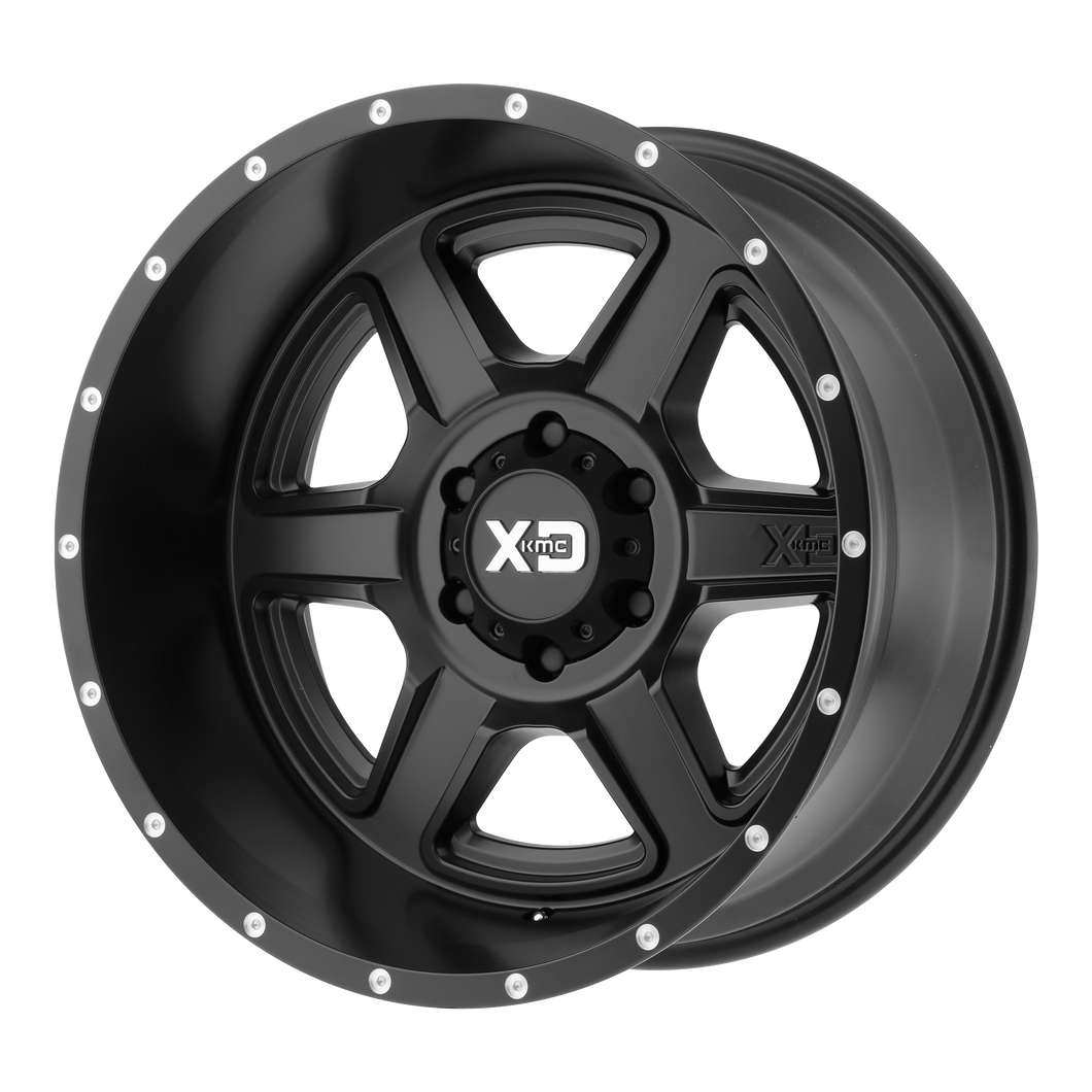 XD SERIES BY KMC WHEELS FUSION SATIN BLACK - rons-rims-inc