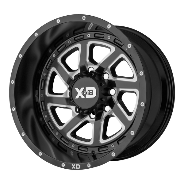 XD SERIES BY KMC WHEELS RECOIL SATIN BLACK MILLED W/ REVERSIBLE RING - rons-rims-inc