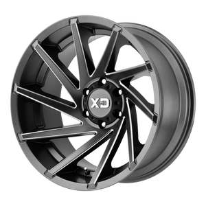 XD SERIES BY KMC WHEELS CYCLONE SATIN GRAY MILLED - rons-rims-inc