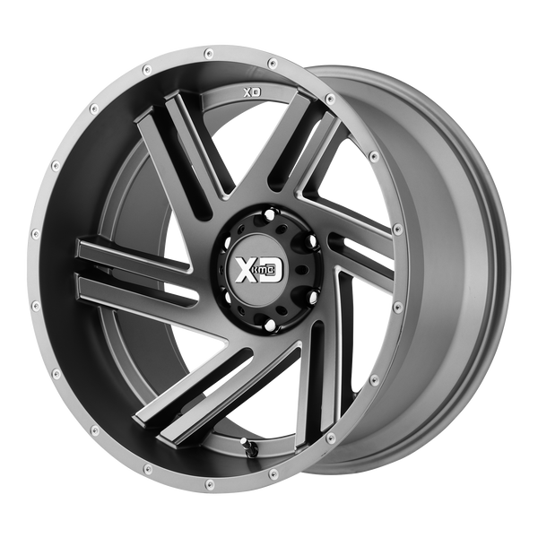 XD SERIES BY KMC WHEELS SWIPE SATIN GRAY MILLED