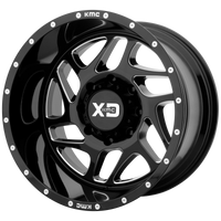 XD SERIES BY KMC WHEELS FURY GLOSS BLACK MILLED - rons-rims-inc