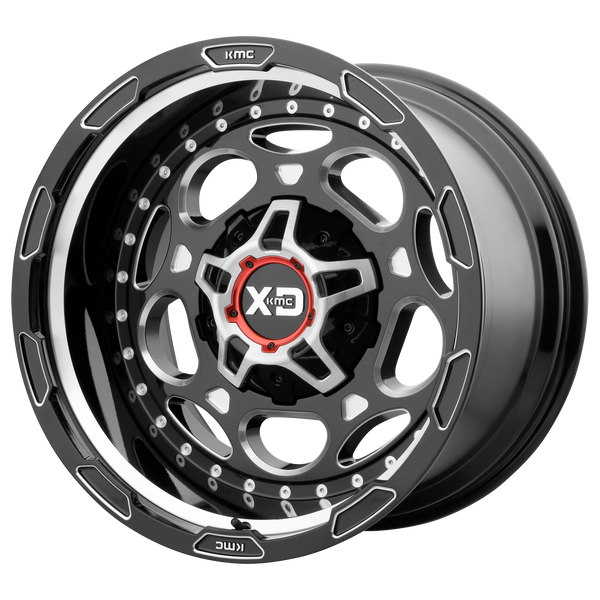 XD SERIES BY KMC WHEELS DEMODOG GLOSS BLACK MILLED - rons-rims-inc